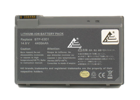 Replacement Laptop Battery for Acer BTP-63D1 BT.T2803.001 LC.BTP01.005 Aspire 3020 3610 5020 TravelMate 2410 4400 C300